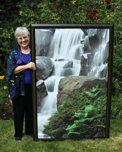 Kathy Admire and Waterfall Photo